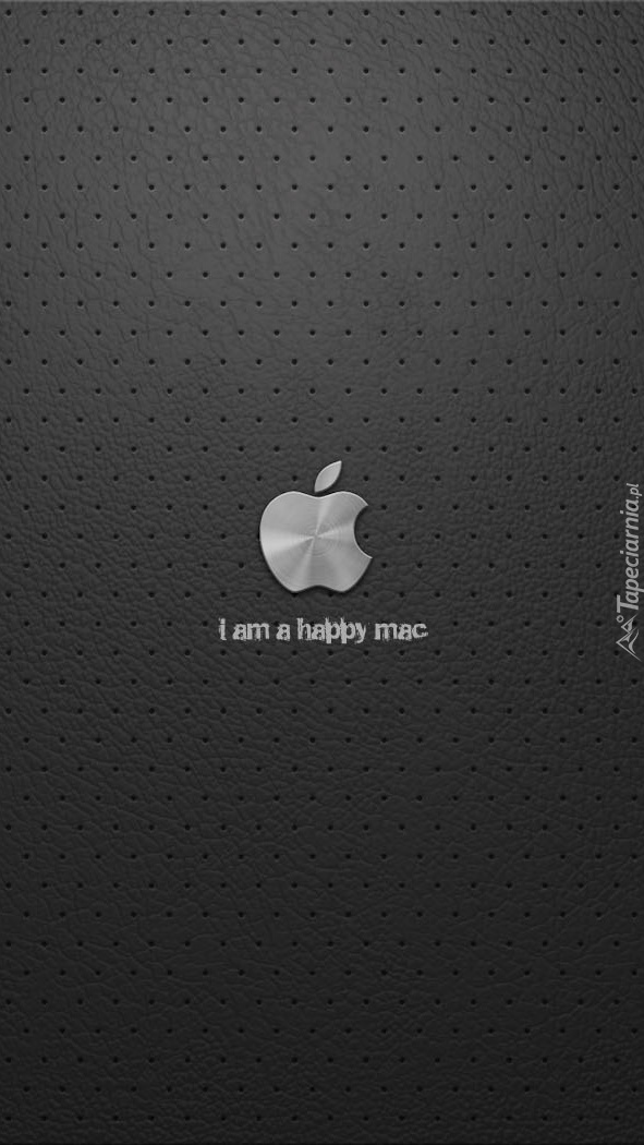 Logo Apple na szarym punktowanym tle
