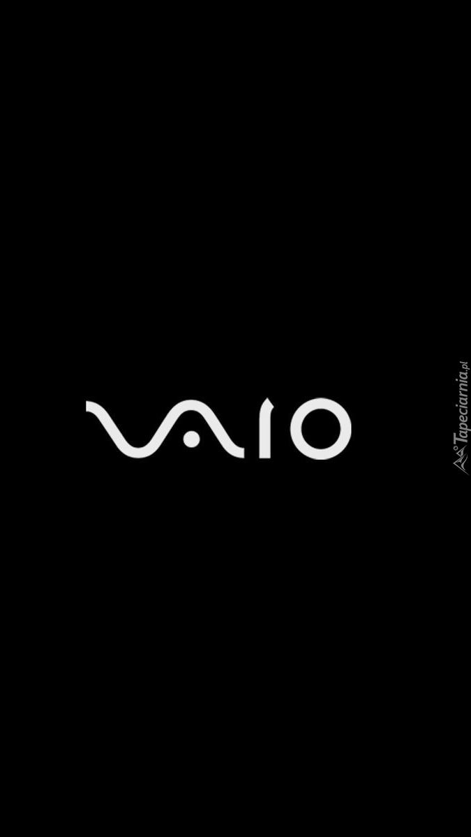 Logo VAIO na czarnym tle