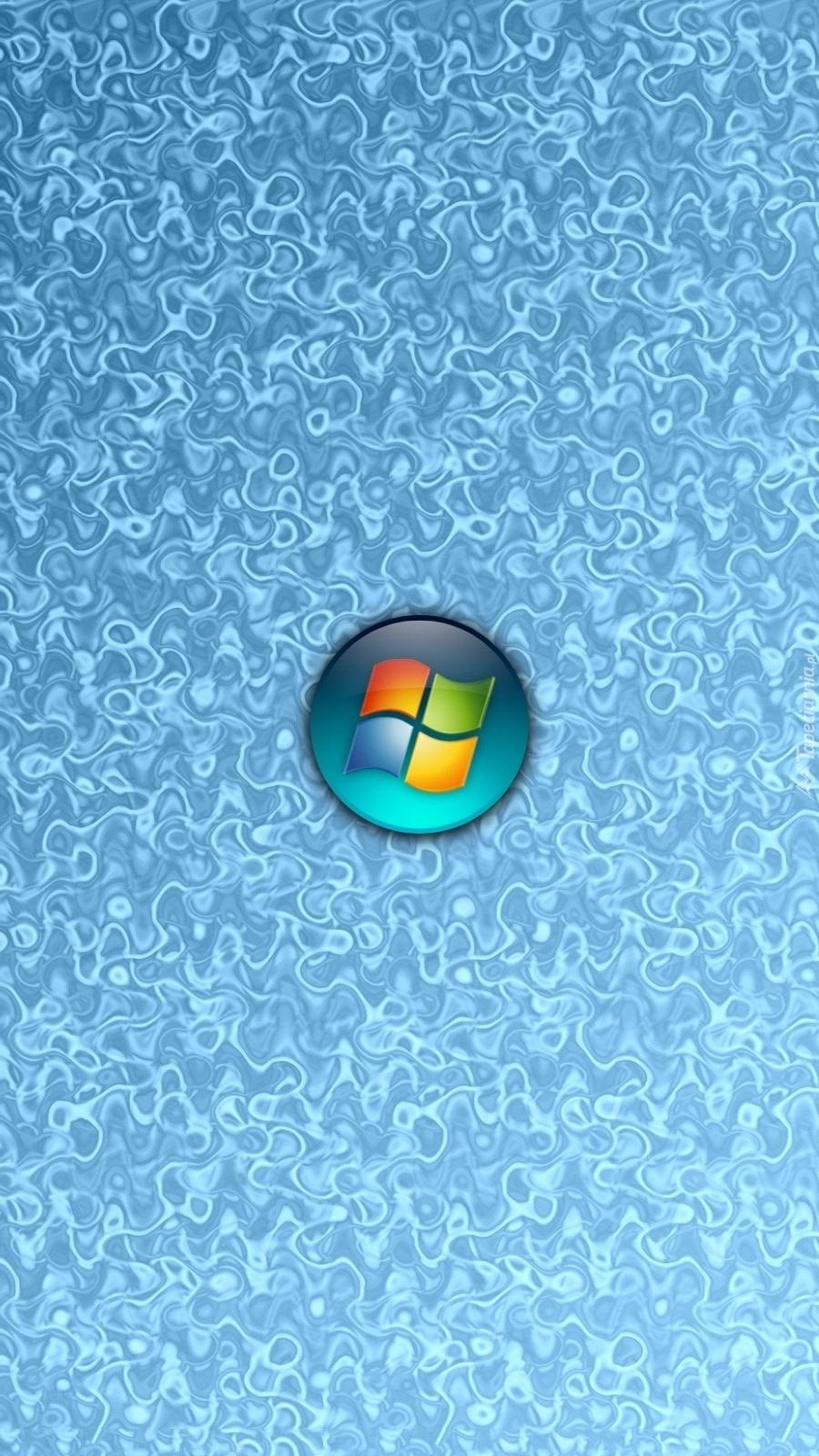 Logo Windows na niebieskim tle