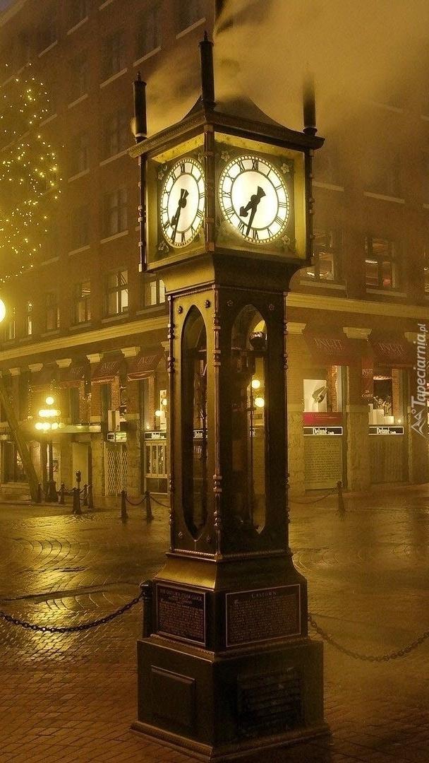 Londyński zegar nocą