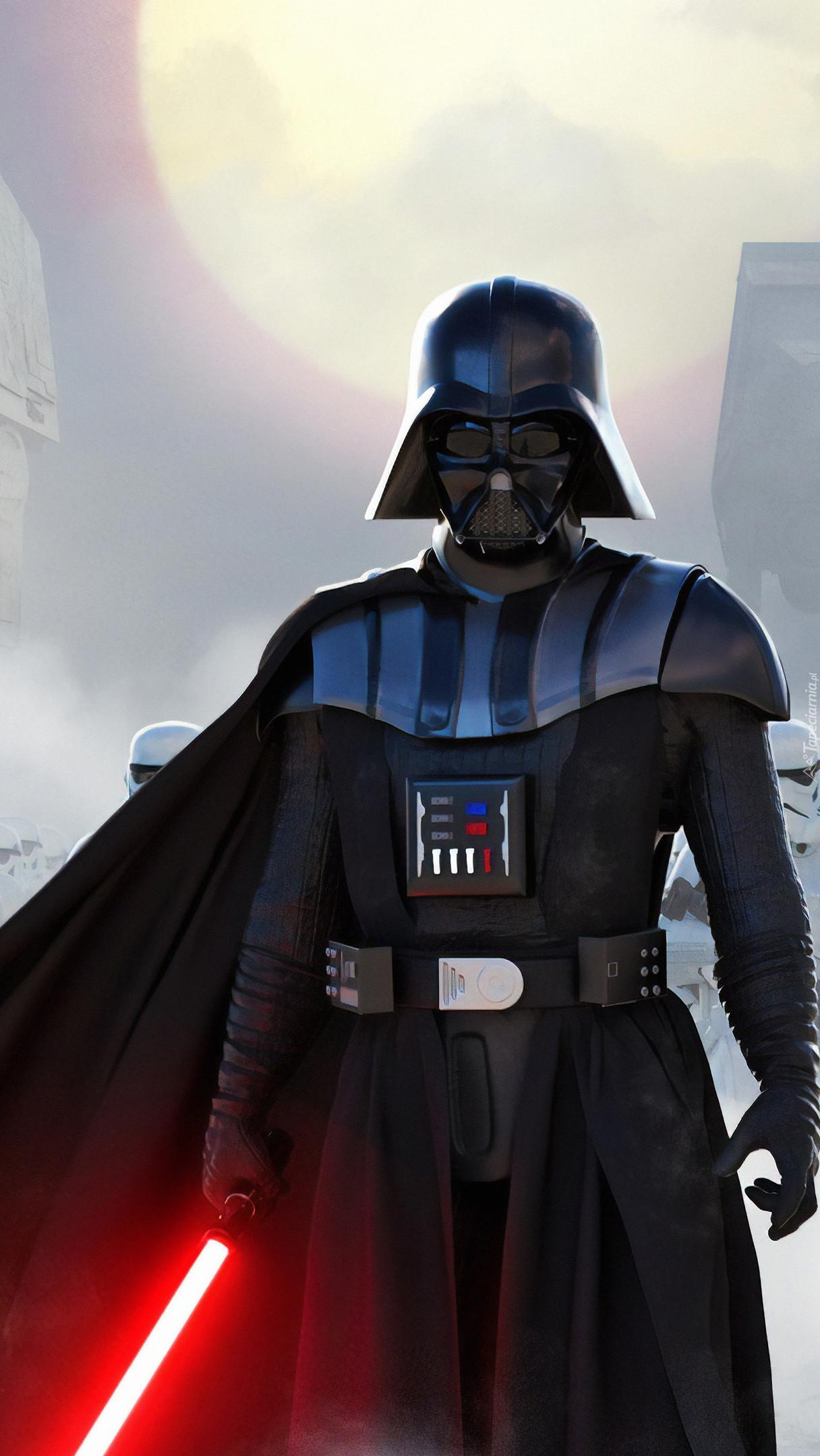 Lord Vader z mieczem świetlnym