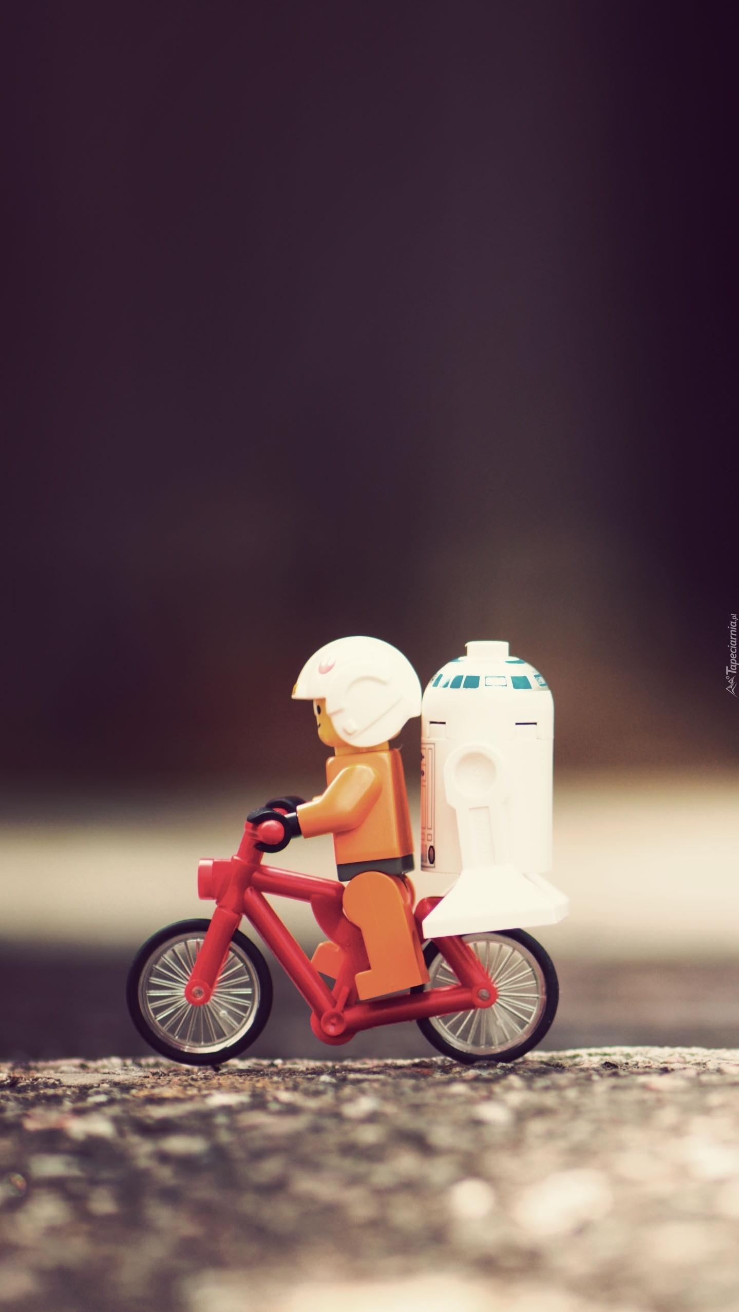 Ludzik z lego na rowerku
