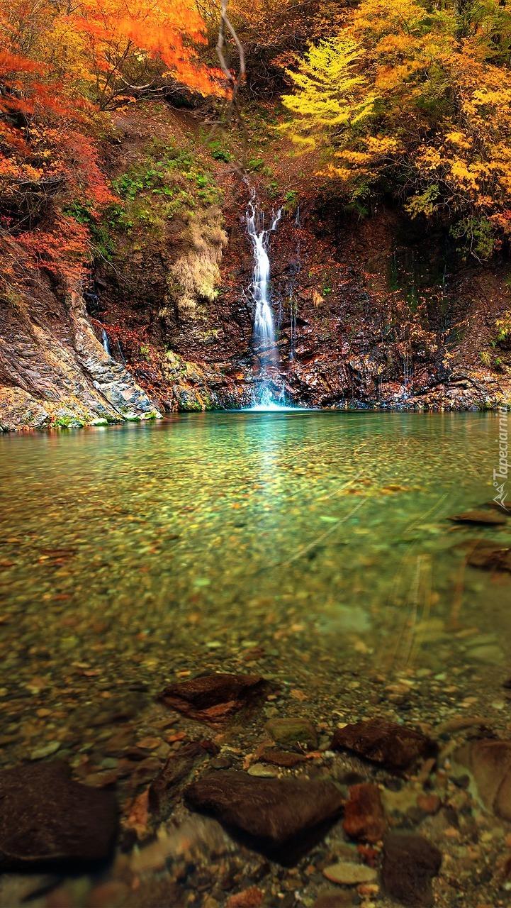 Mały wodospad nad rzeką