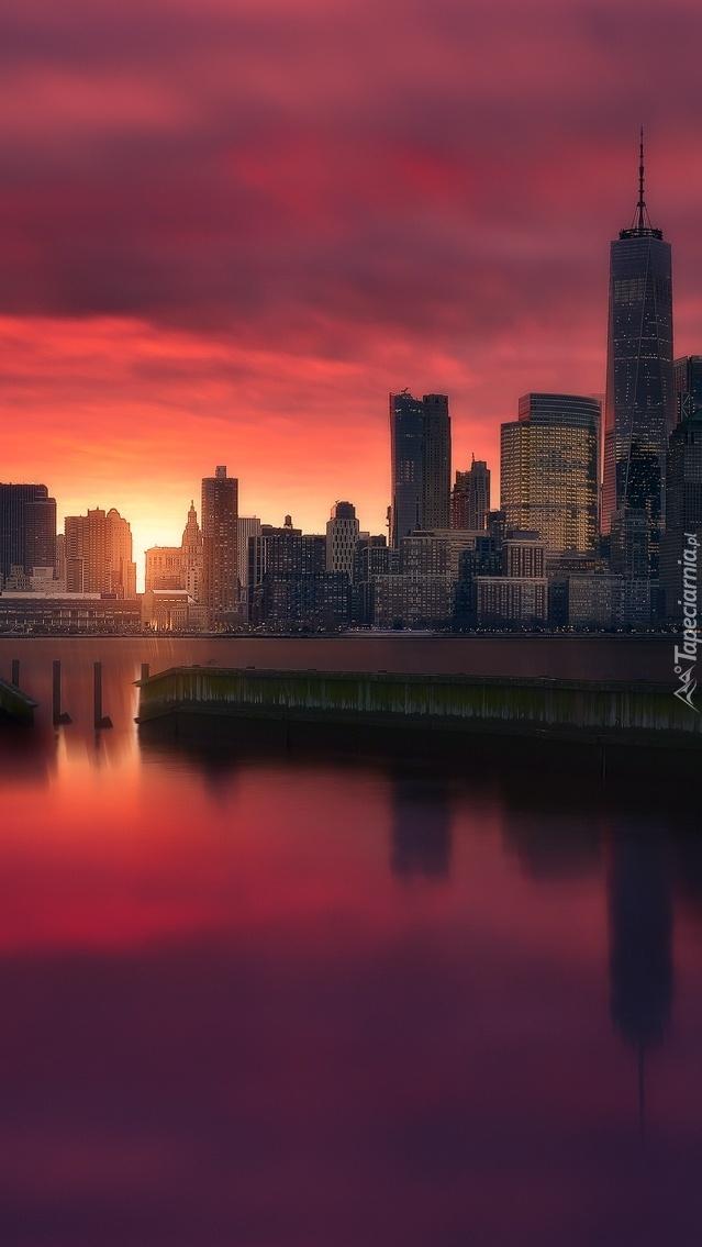 Manhattan o zachodzie słońca