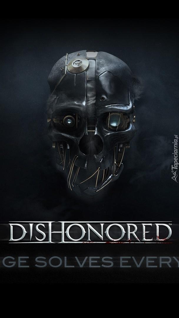 Maska na ciemnym tle
