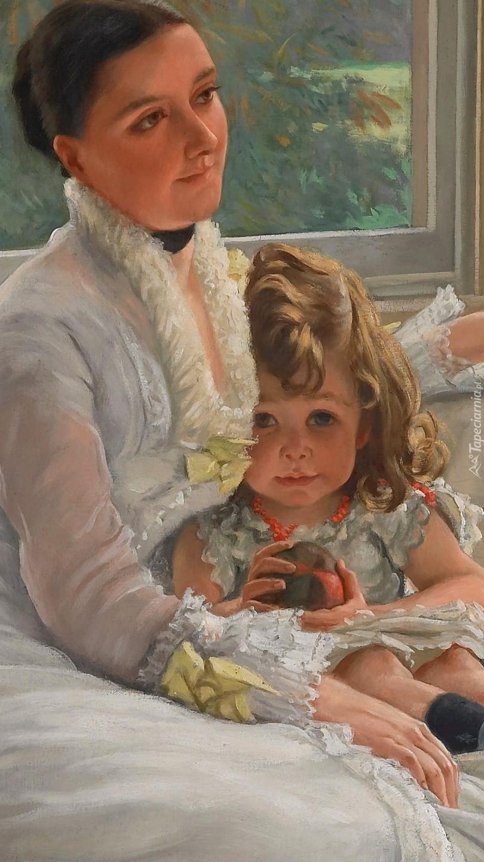Matka i córka na obrazie Jamesa Tissota