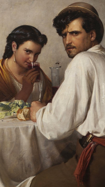 Mężczyzna i kobieta przy stoliku