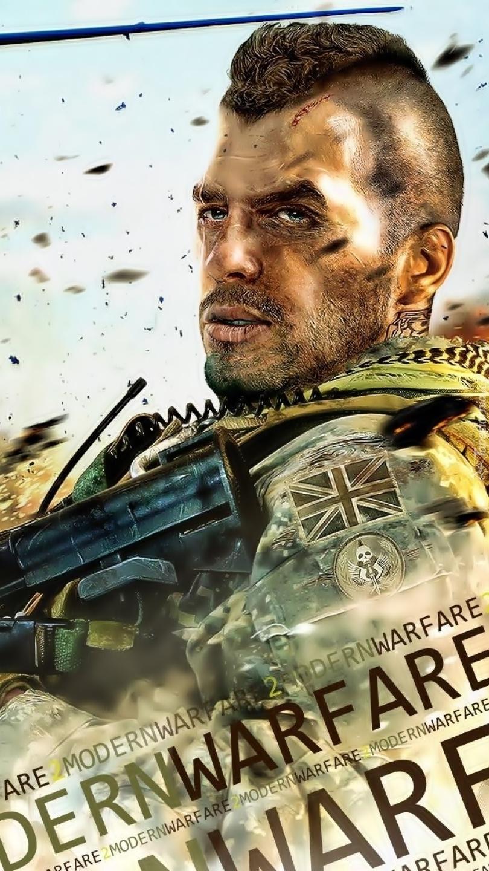 Mężczyzna z bronią w Call of Duty 6