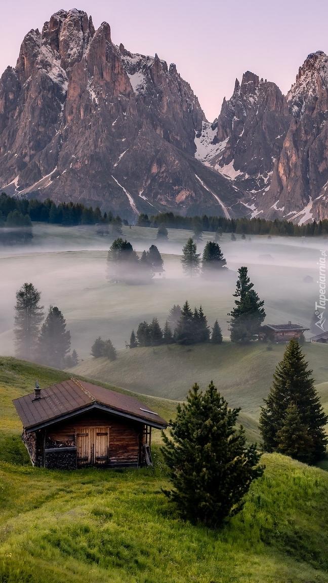 Mgła nad płaskowyżem Seiser Alm