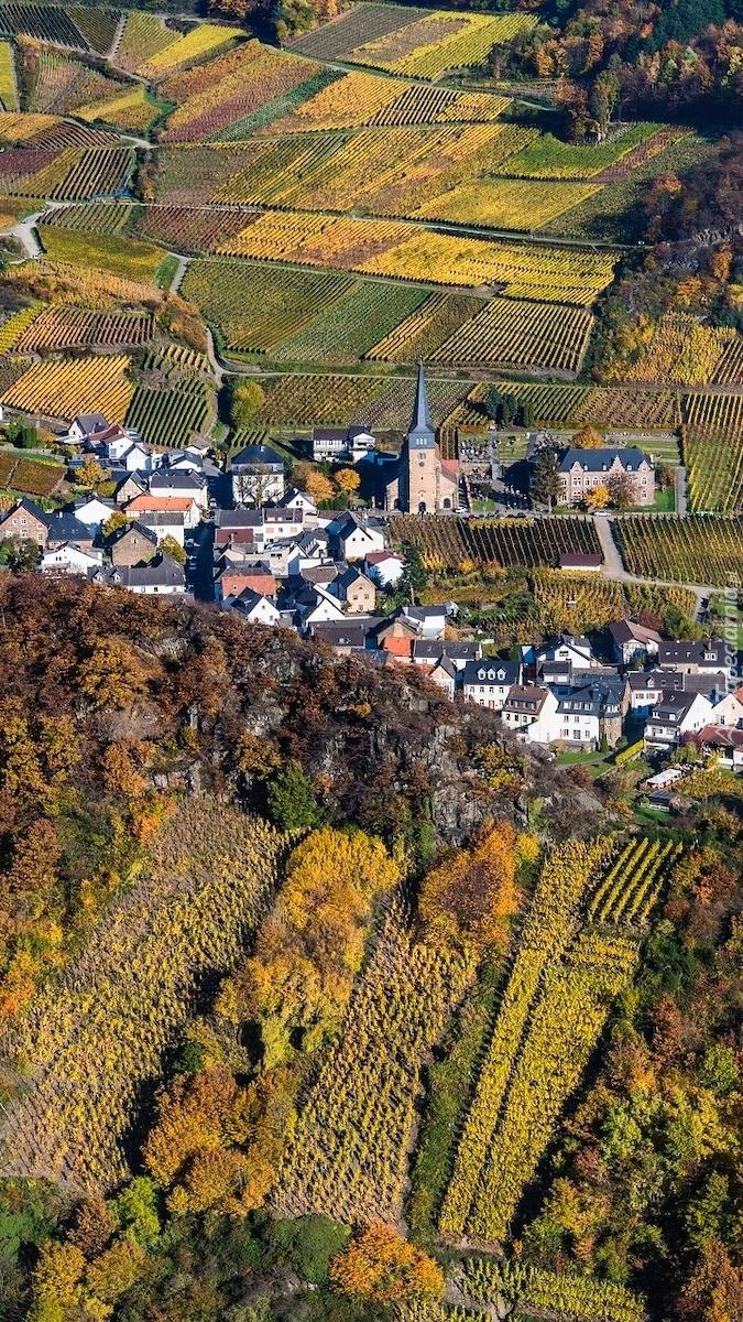 Miasteczko Mayschoss w Niemczech
