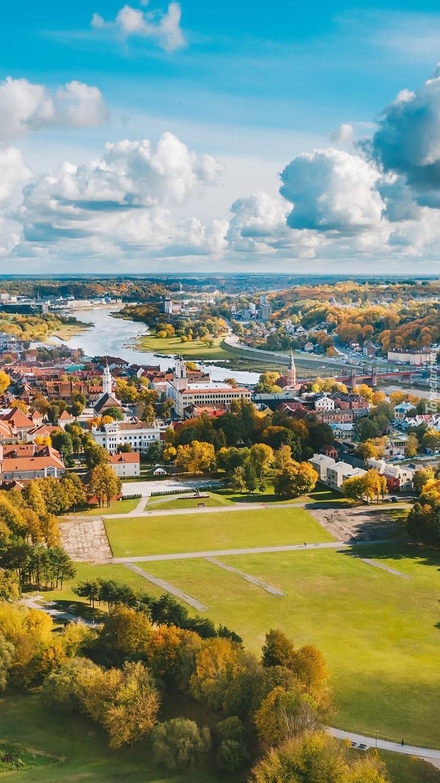 Miasto Kowno na Litwie