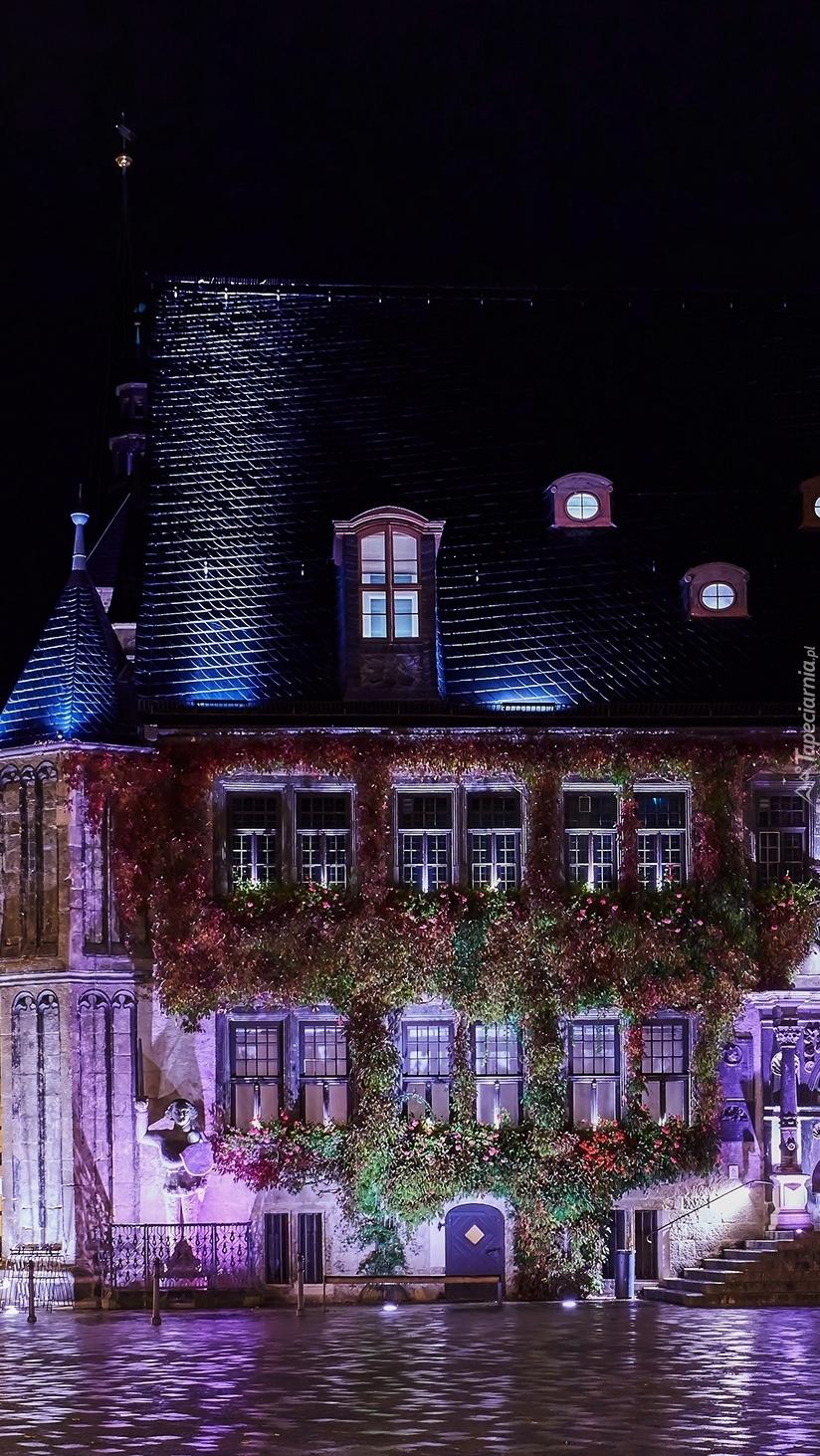 Miasto Quedlinburg nocą
