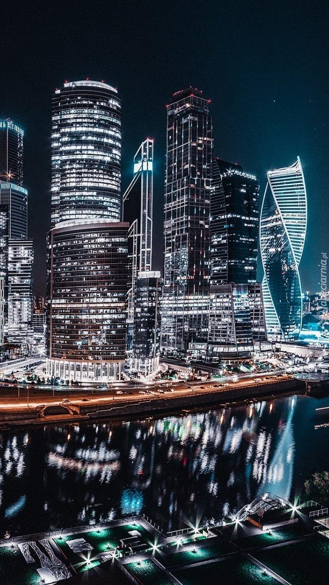 Miasto w Rosji nocą