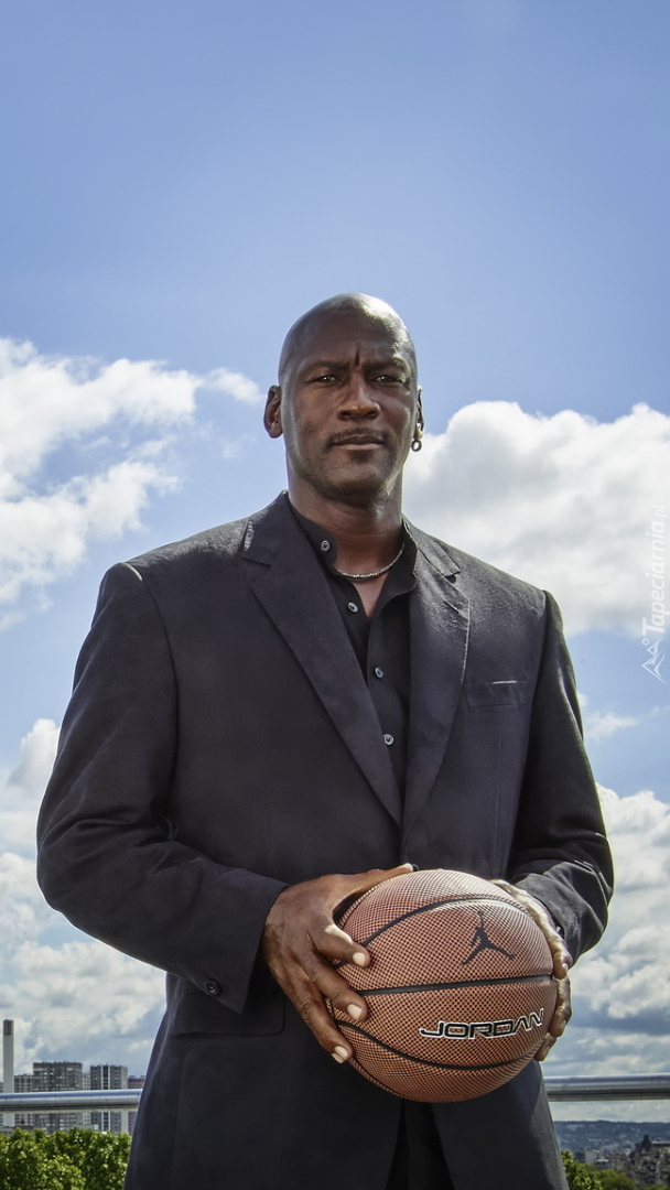 Michael Jordan z piłką