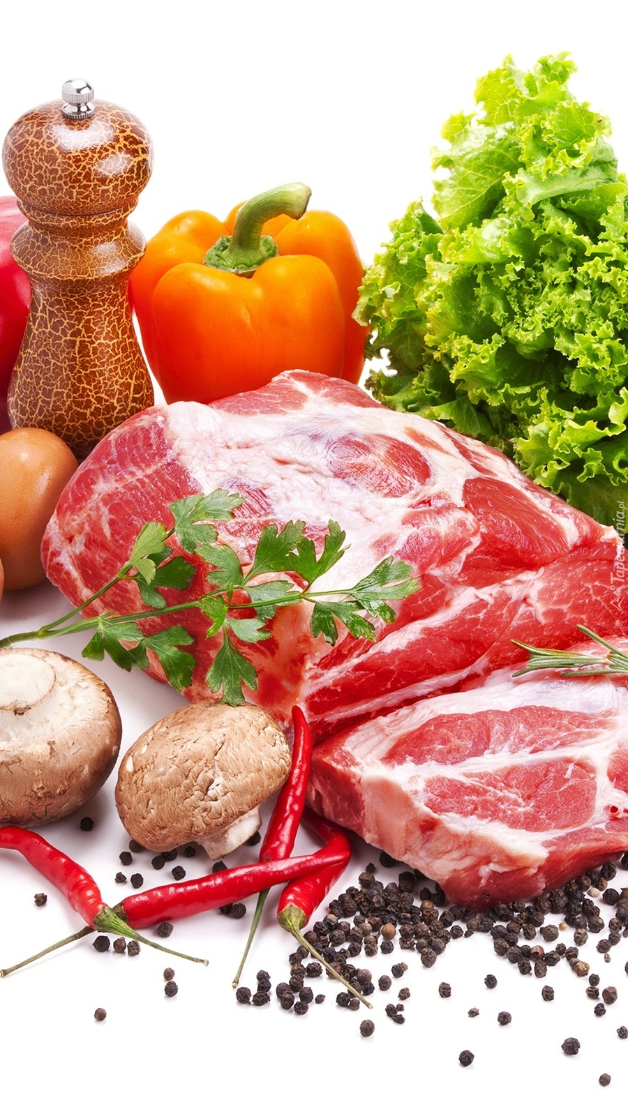 Mięso z przyprawami i warzywami