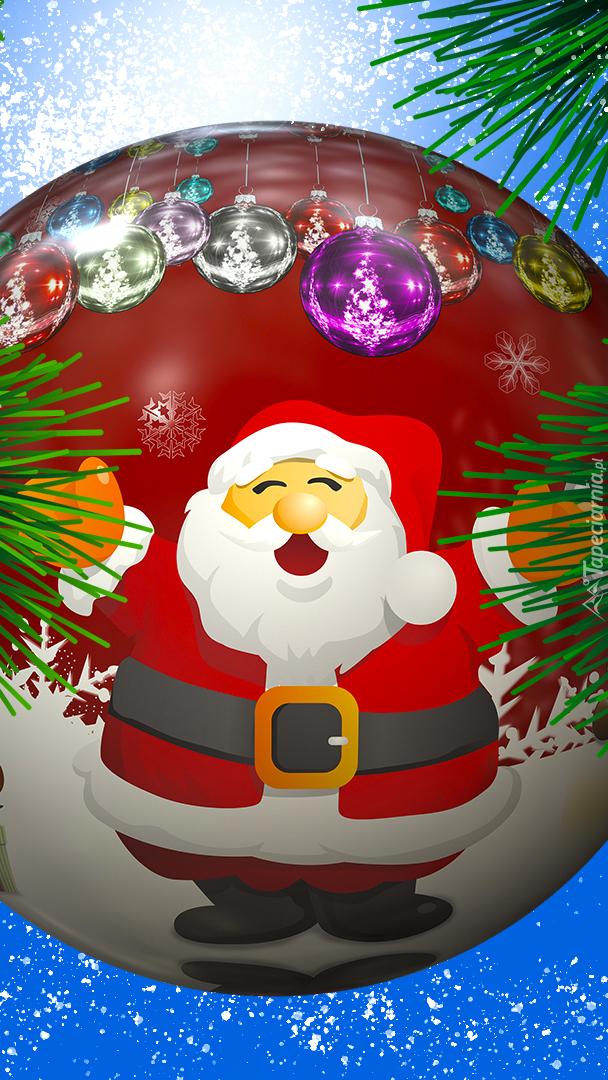 Mikołaj na bombce