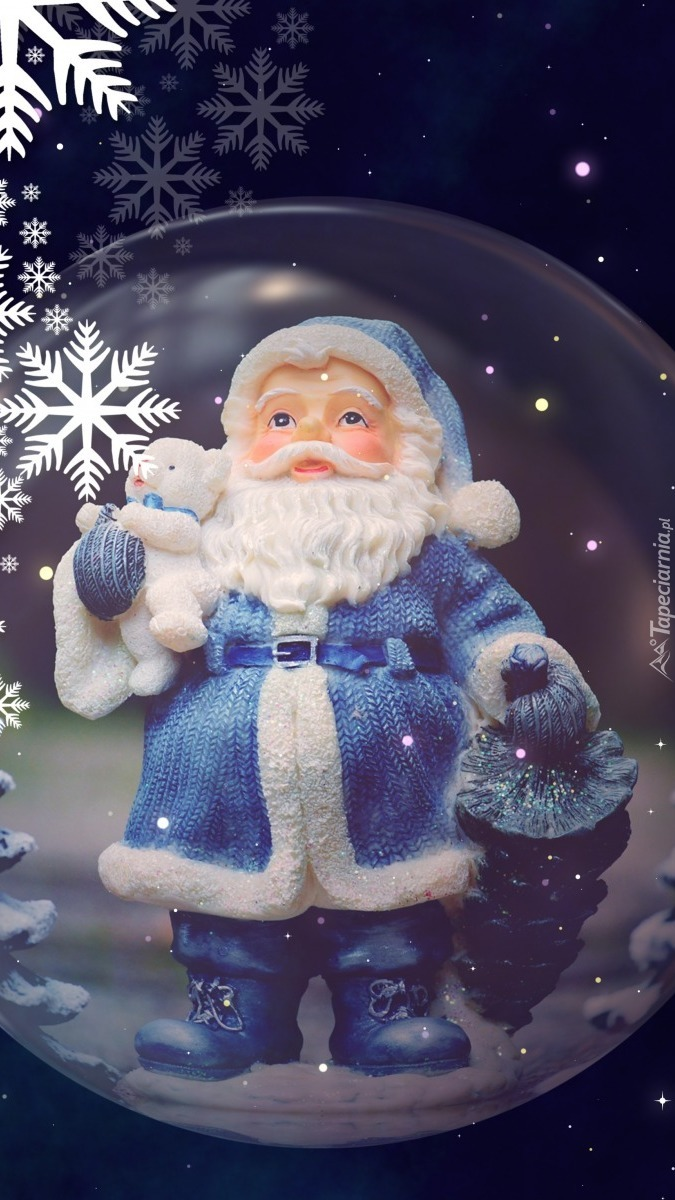 Mikołaj w szklanej kuli