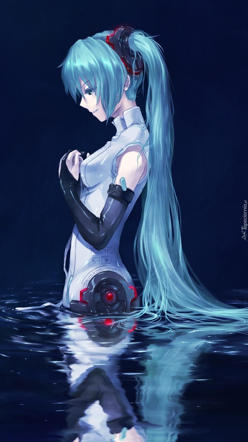 Miku w wodzie