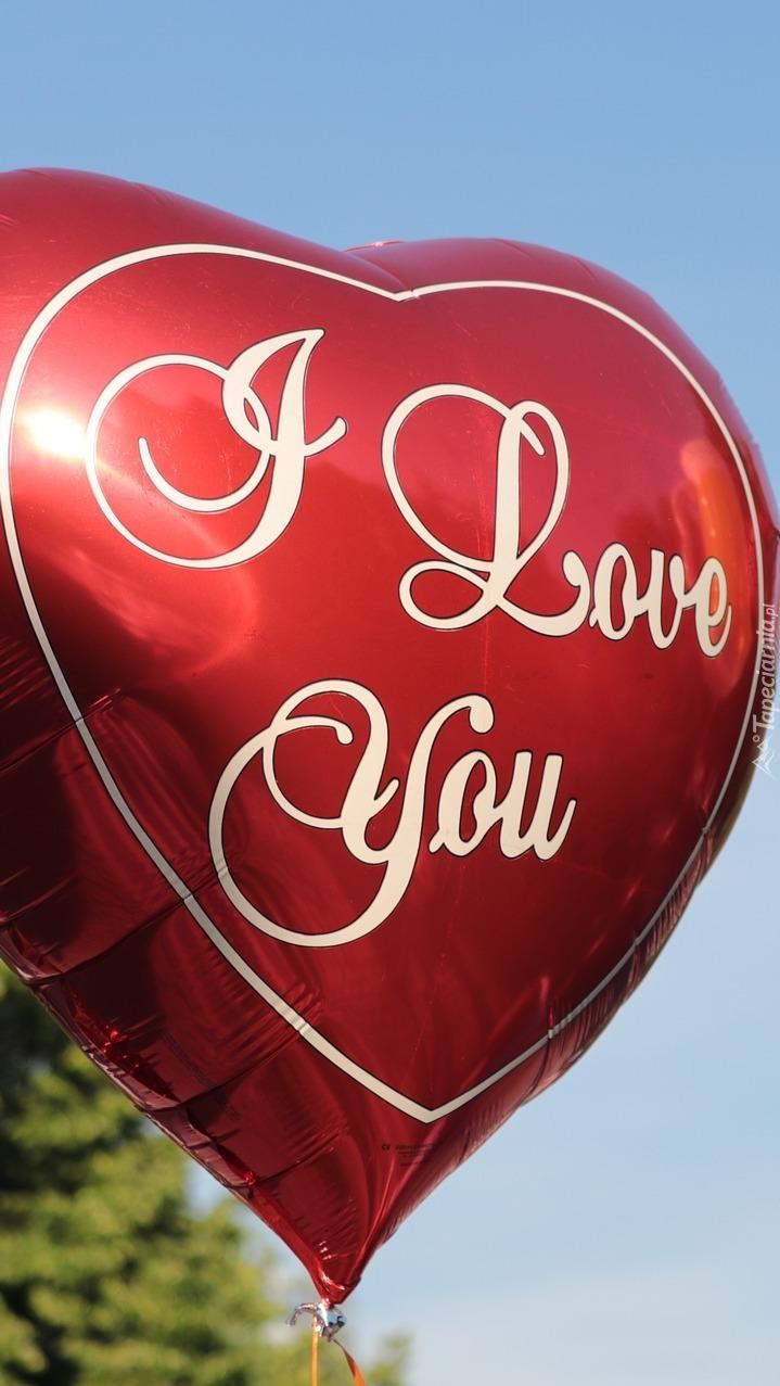 Miłosny napis na balonie