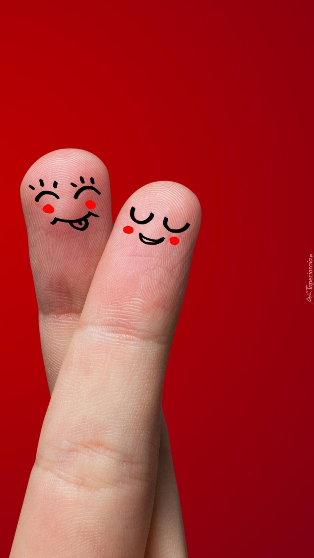 Minki narysowane na palcach