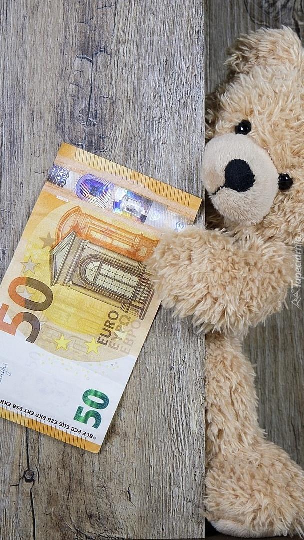 Miś z banknotem