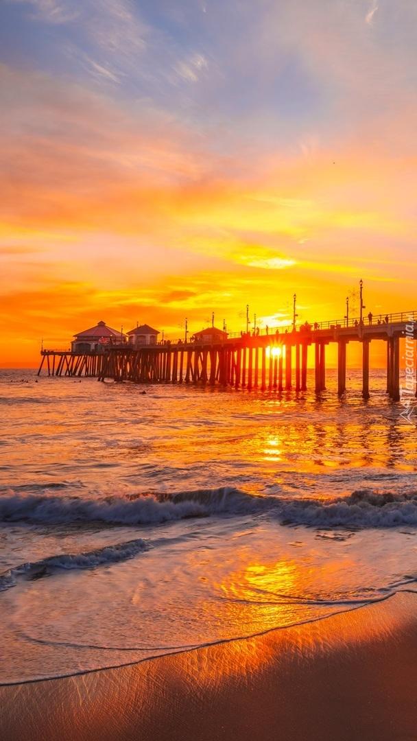 Molo Huntington Beach Pier w Kalifornii