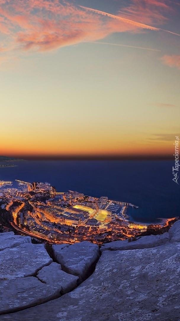 Monako widziane z lotu ptaka