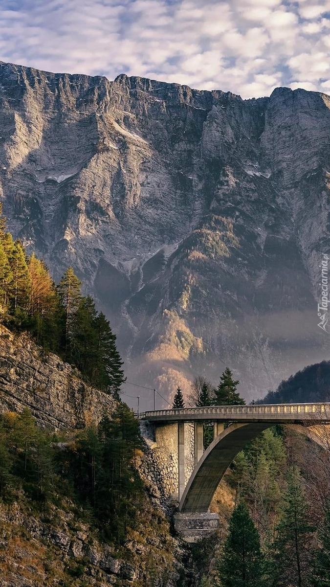 Most Arched Bridge w Alpach Julijskich
