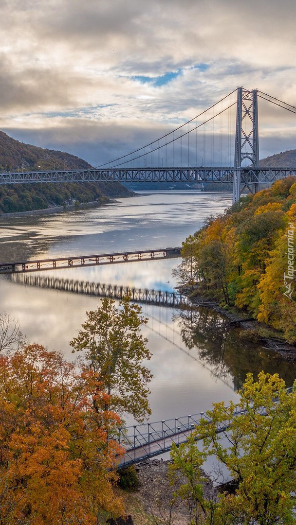 Most Bear Mountain Bridge nad rzeką Hudson River