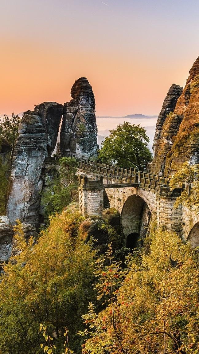 Most i formacja skalna Bastei