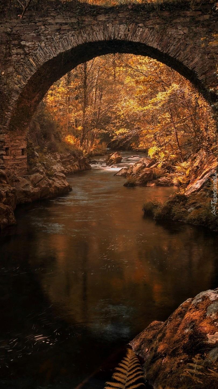 Most łukowy nad rzeką