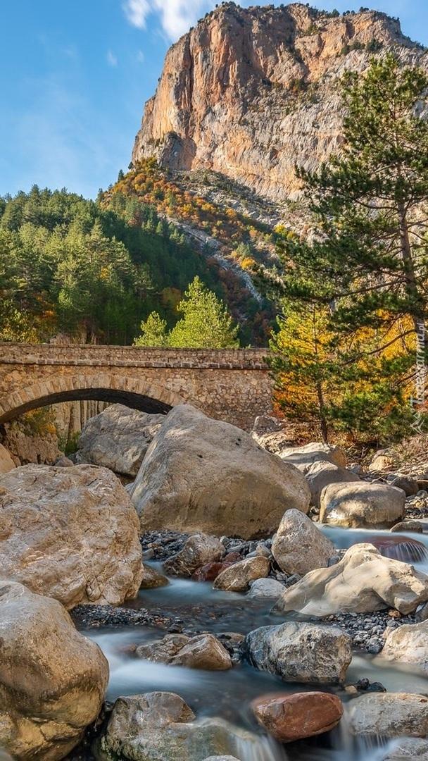 Most nad kamienistą rzeką