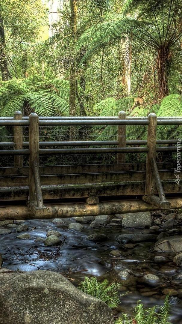 Most nad rzeką z kamieniami