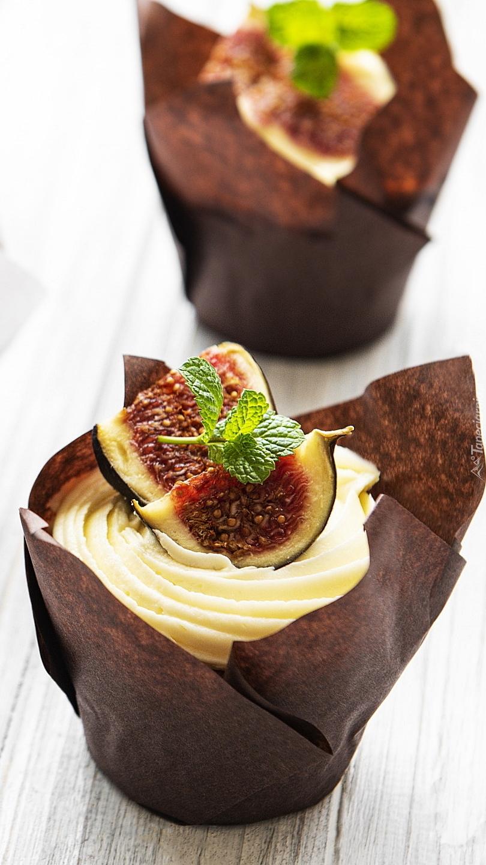 Muffinka z figą i miętą