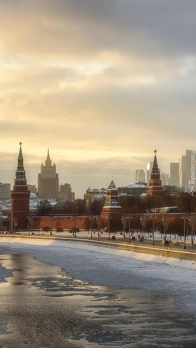 Mury Kremla w Moskwie