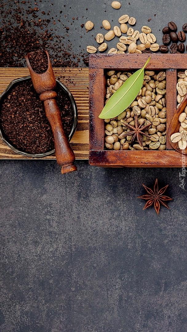 Nabierak na ziarnach kawy