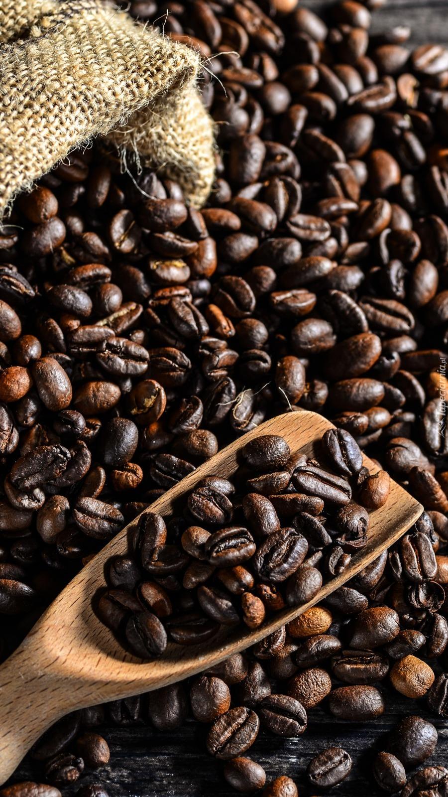 Nabierka z ziarnami kawy