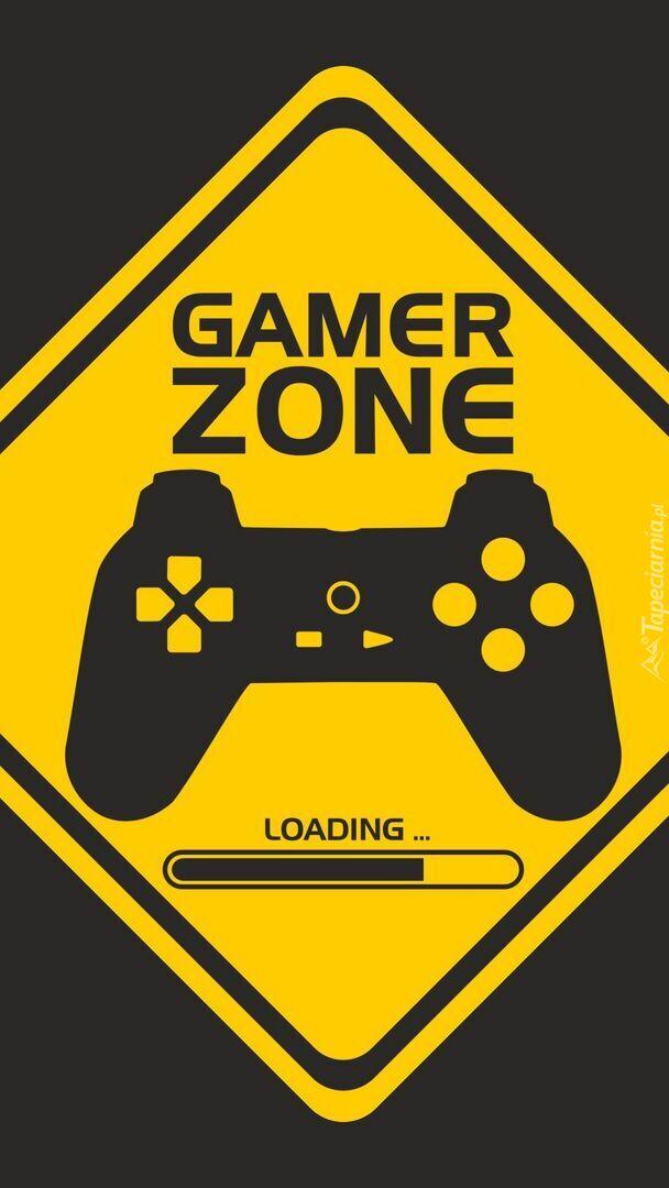 Napis Gamer zone