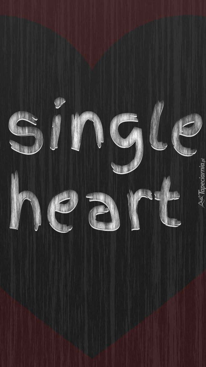 Napis single heart