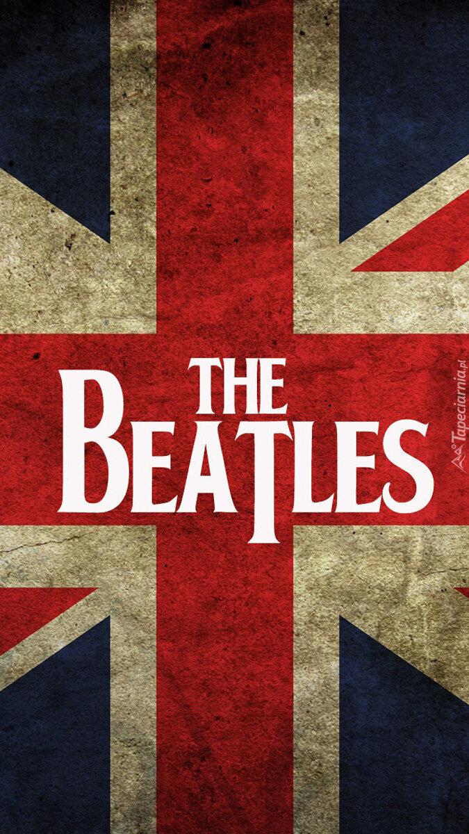 Nazwa zespołu The Beatles na fladze