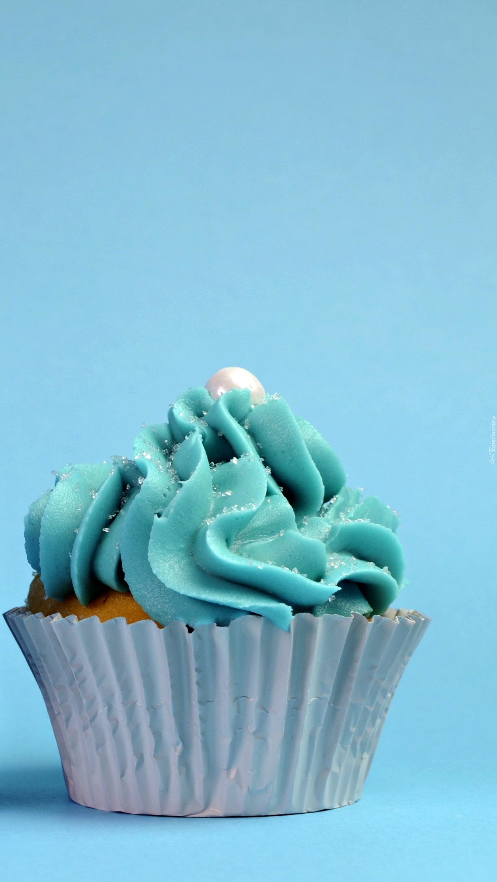 Niebieska babeczka