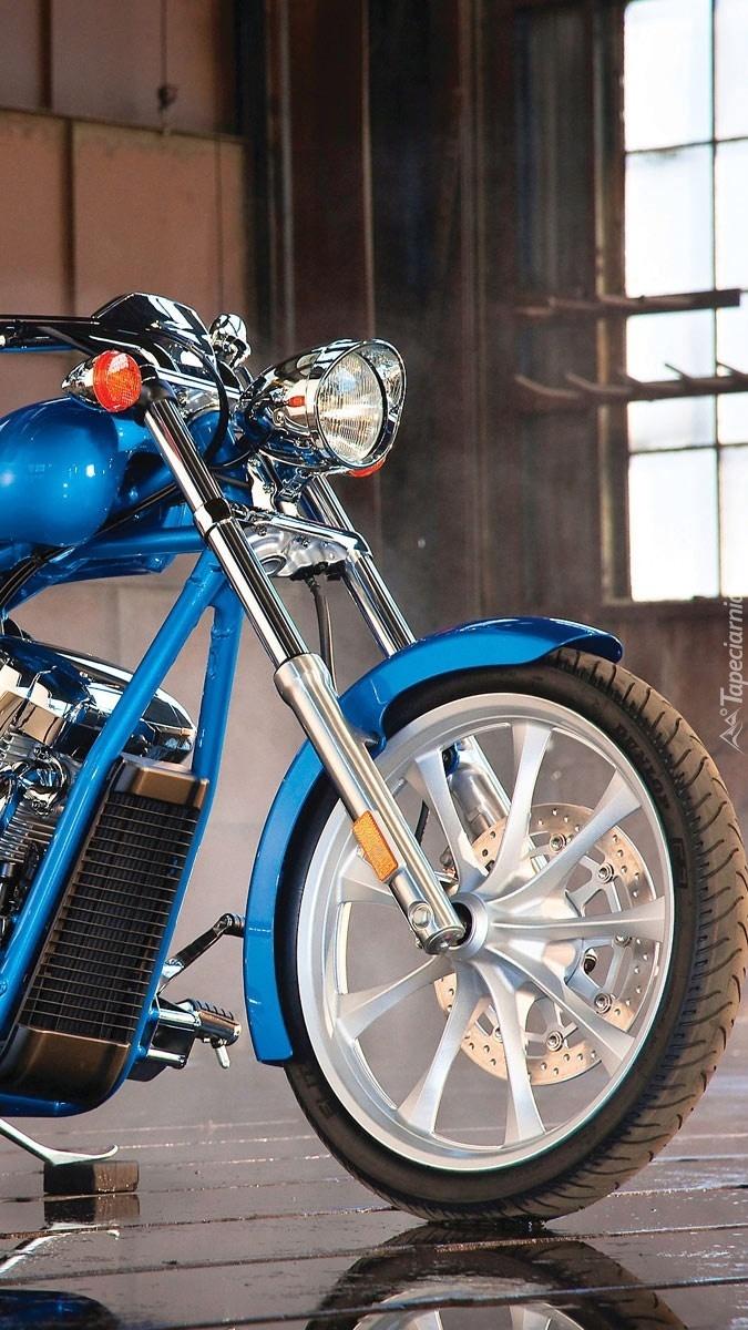 Niebieska Honda VTX 1300CX Fury