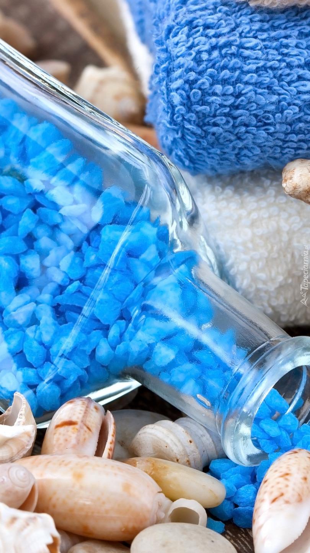 Niebieska sól w butelce
