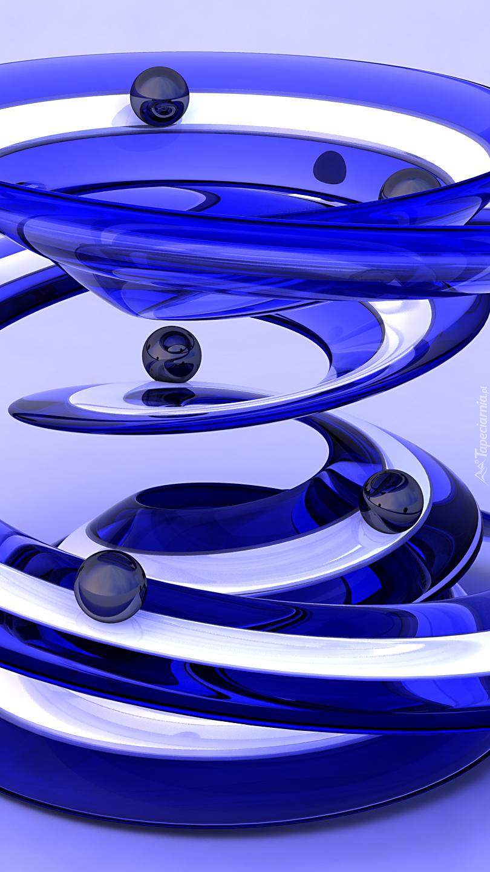 Niebieska zjeżdżalnia w grafice 3D