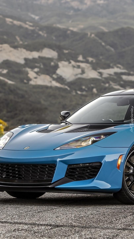 Niebieski Lotus Evora GT