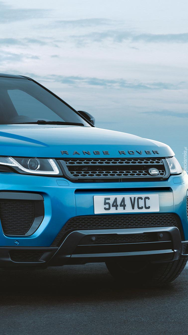 Niebieski Range Rover Evoque Landmark Edition