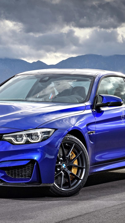Niebieskie BMW M4 CS