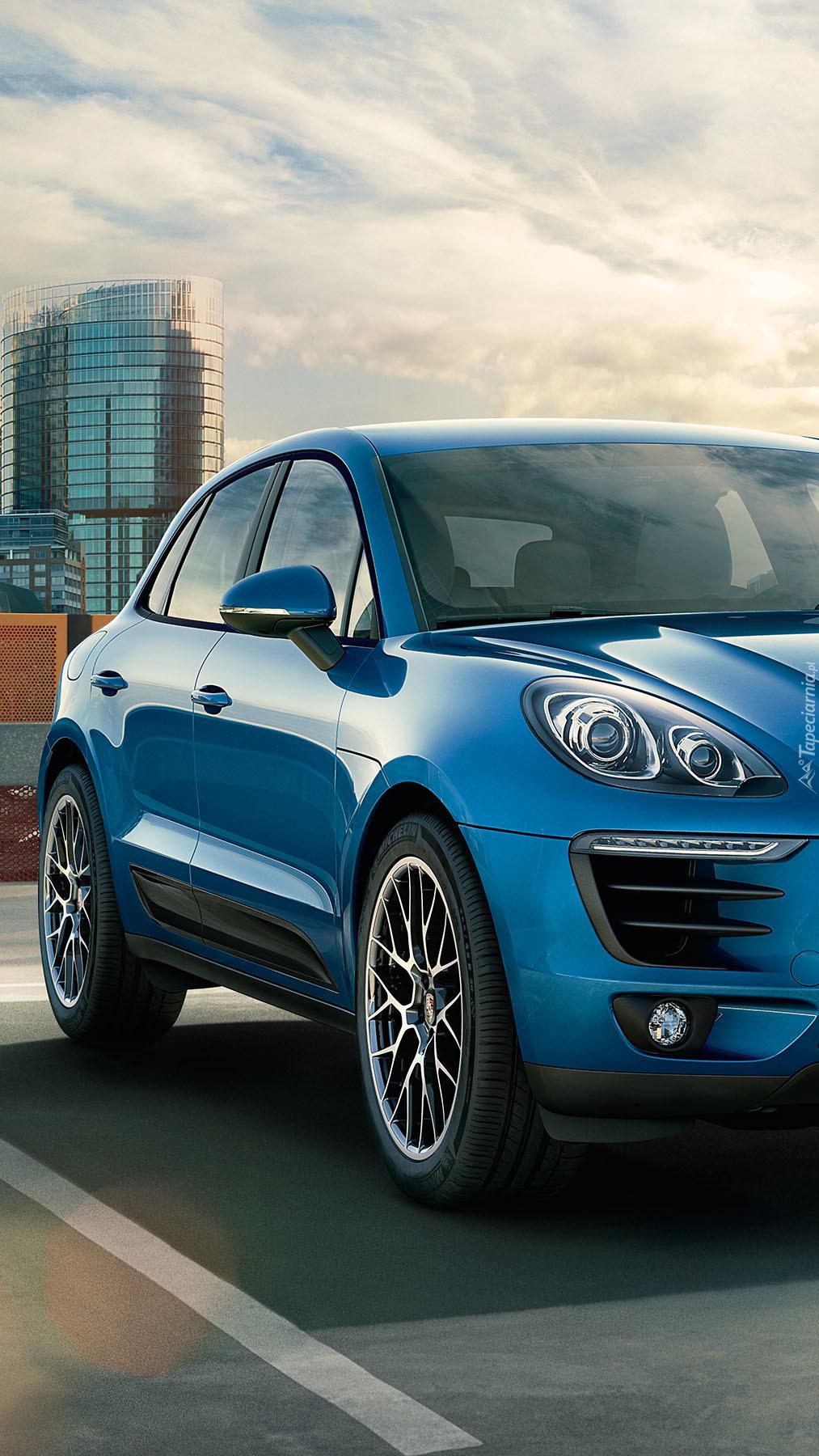 Niebieskie Porsche Macan S