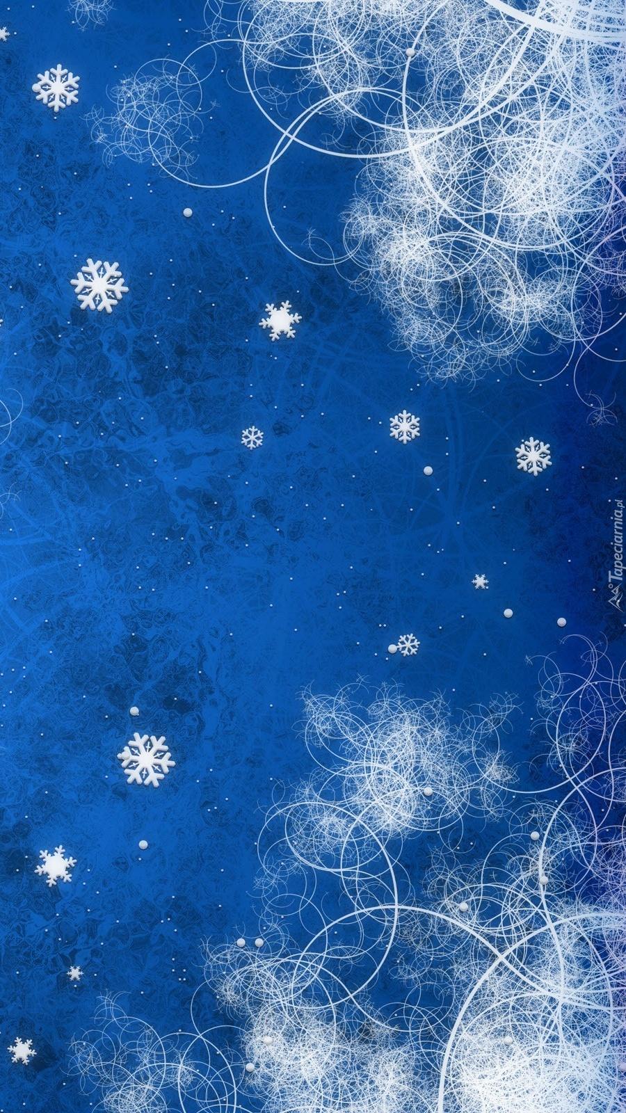 Niebiesko-białe wzorzyste tło