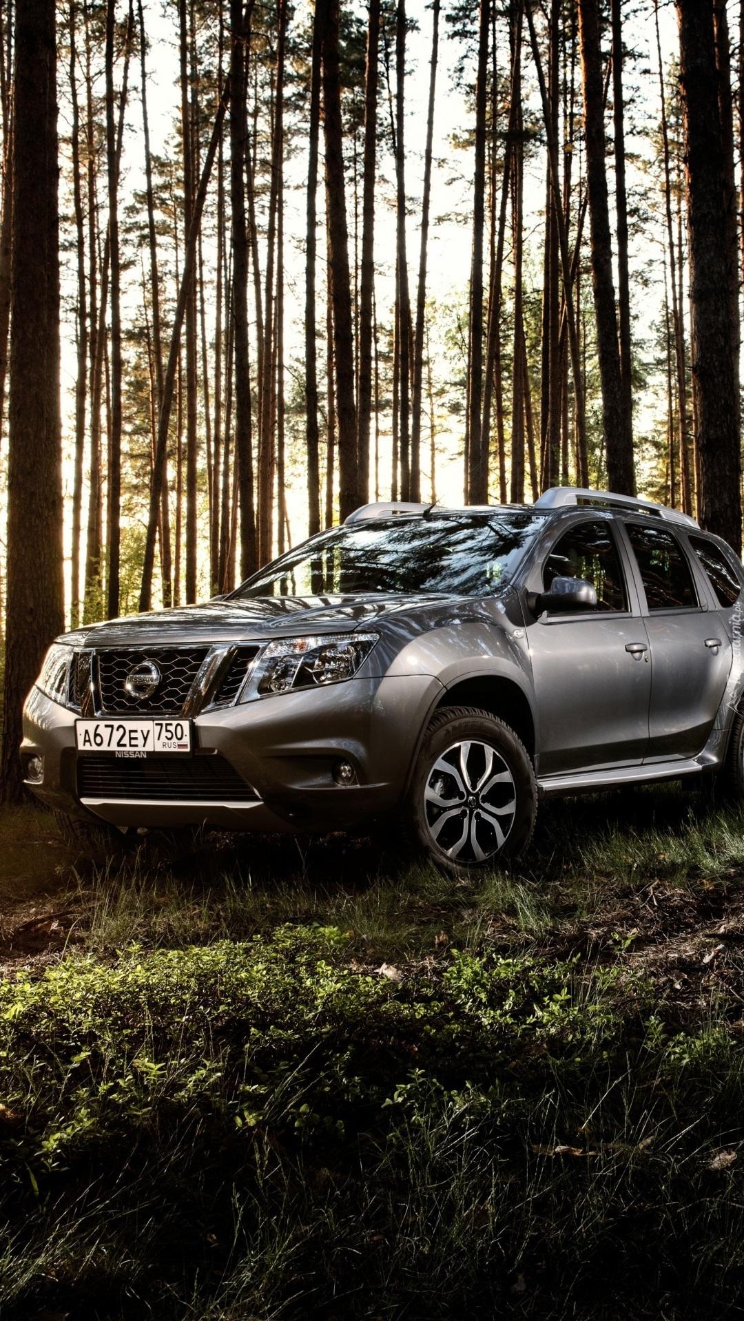 Nissan na polanie w lesie